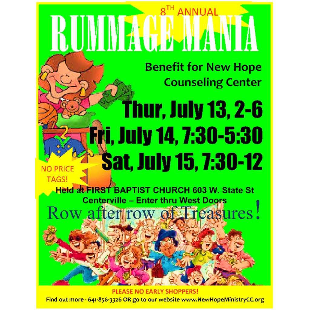 8th Annual Rummage Mania!
