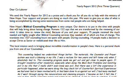 Year End Report 2012
