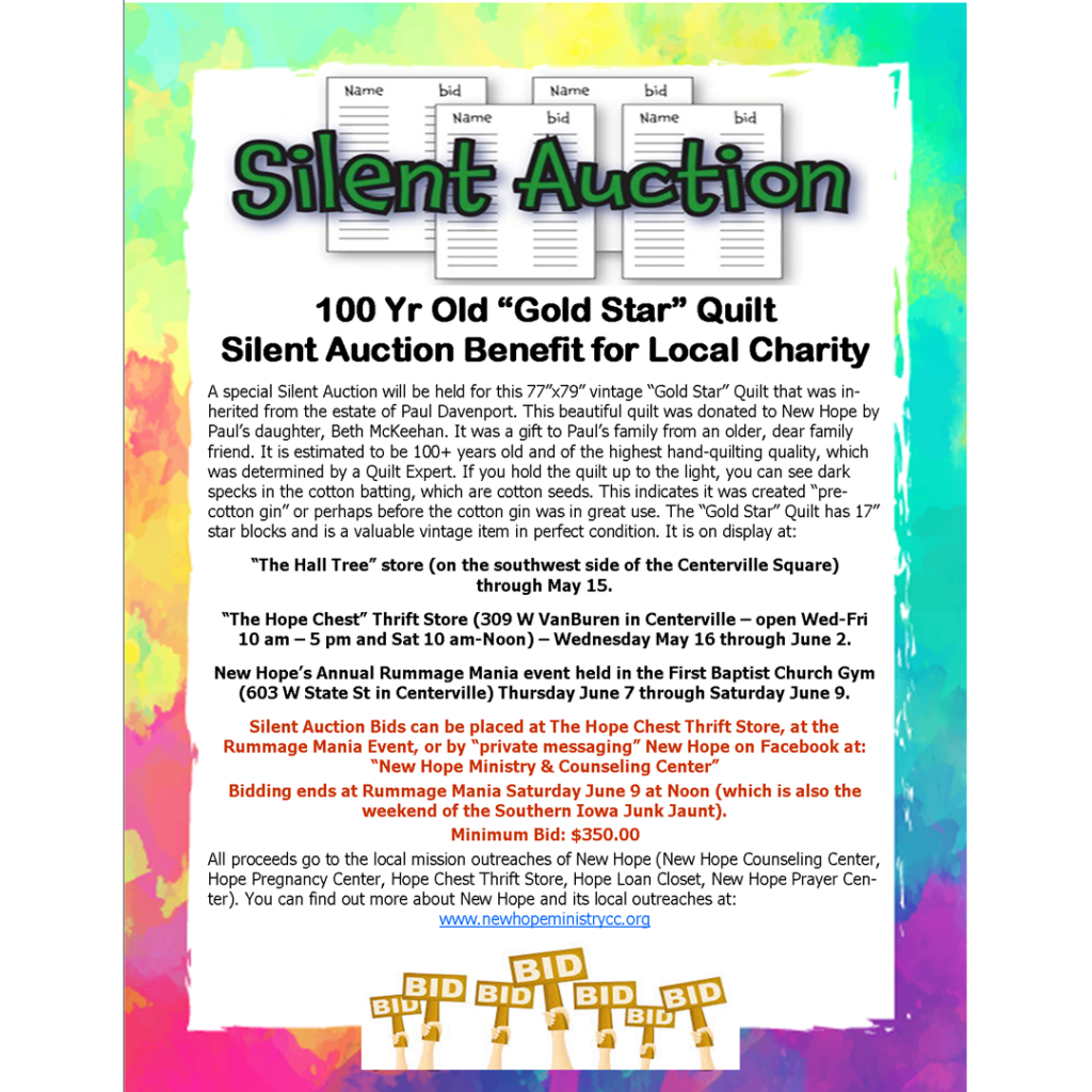 Quilt Silent Auction