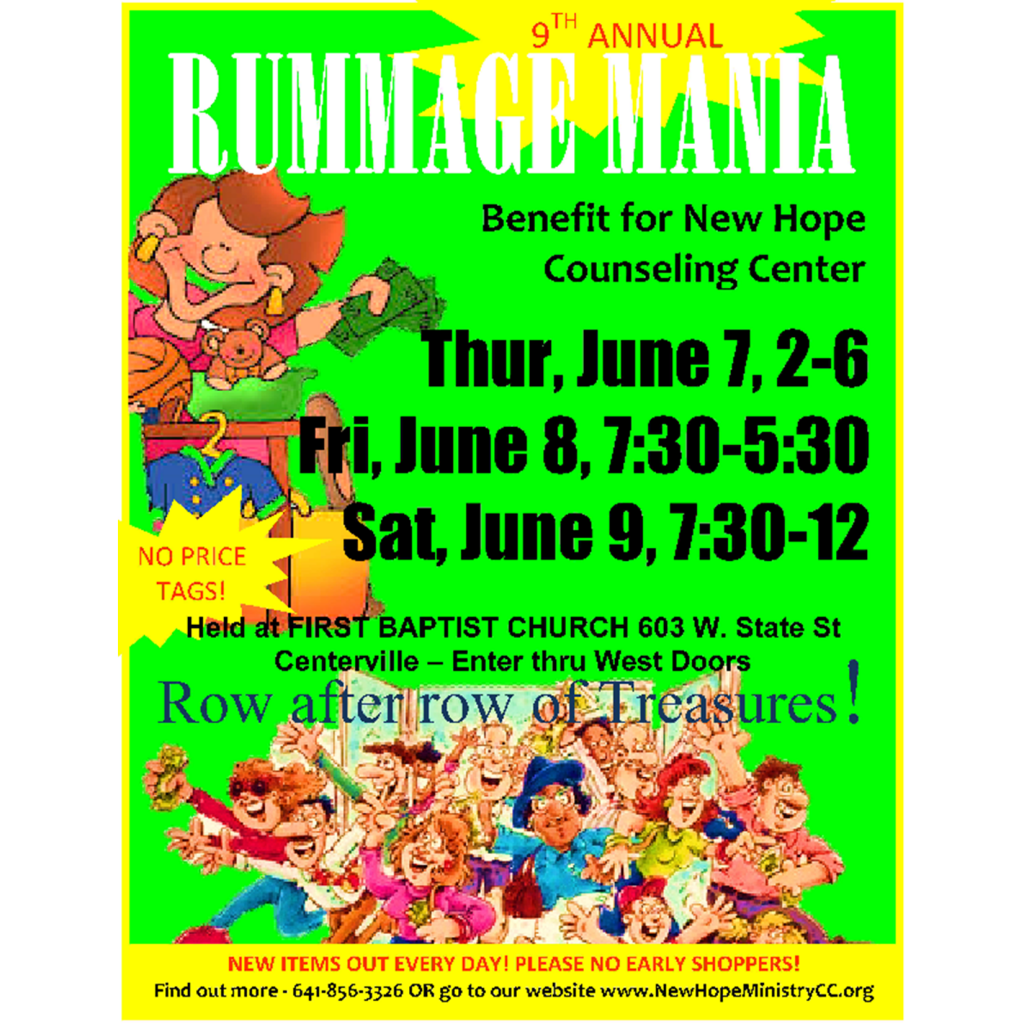 9th ANNUAL RUMMAGE MANIA FUNDRAISER