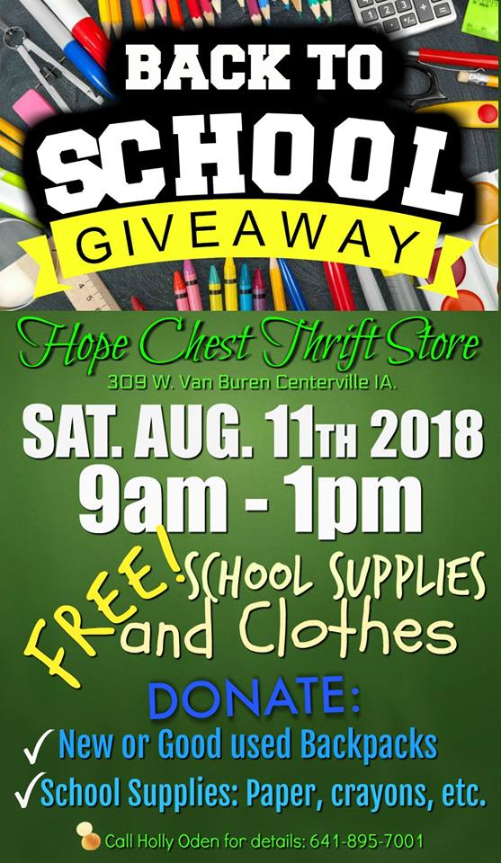 Hope Chest Back to School Giveaway