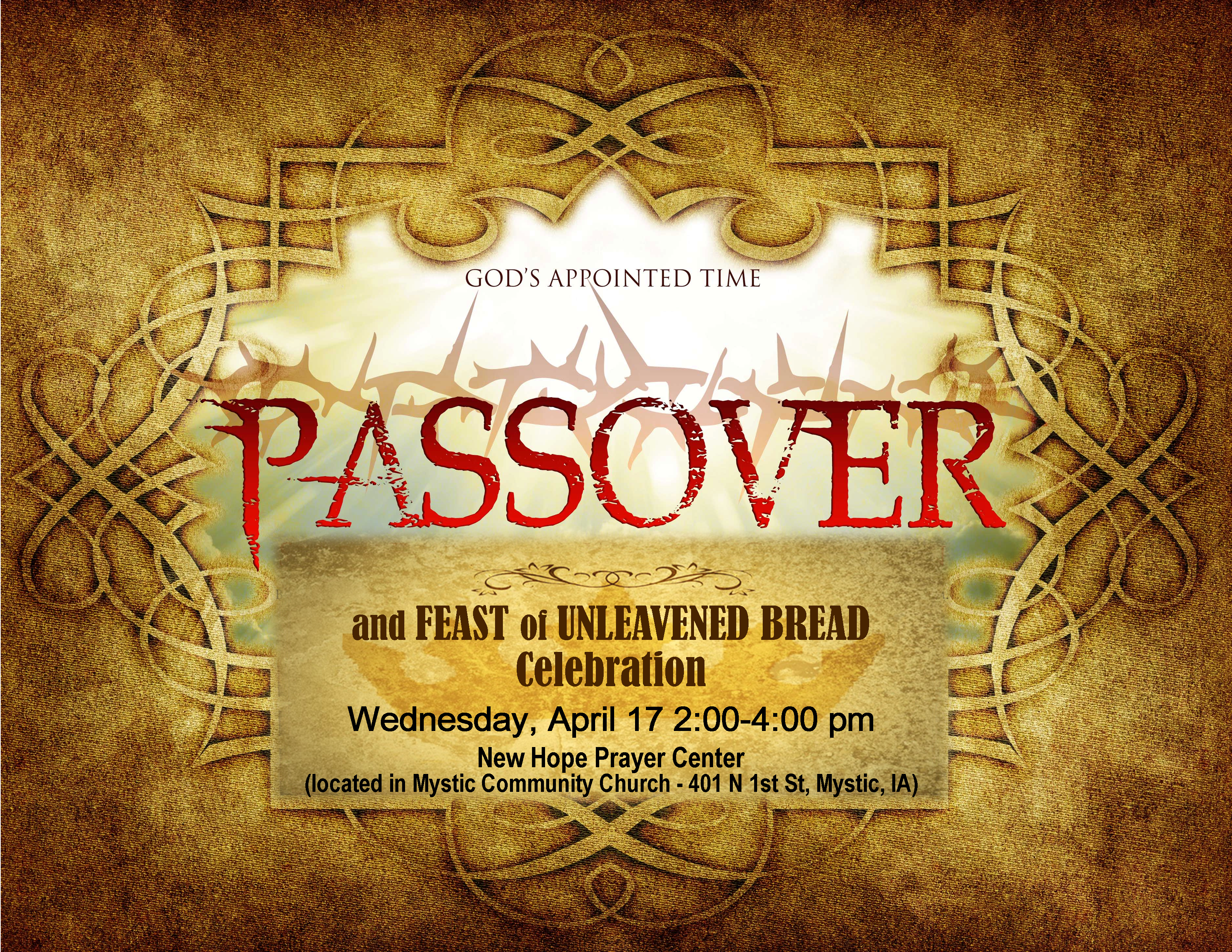 POSTER – Passover-Unleavened
